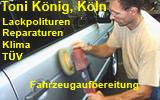 Wir reinigen Fahrzeuge und reparieren in Köln